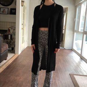 Monki Zip Detail Long Line Cardigan